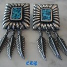Native American Elizabeth Guerro Turquoise Earrings