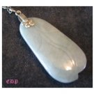 Oriental Carved Jade Pendant Charm Sterling Chain