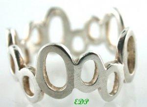 Sterling Band Ring Unisex Wedding Friendship Sz 7.50