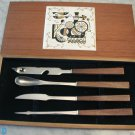 Vintage Barware Bar Tools w Tile Cutting Board Box Set