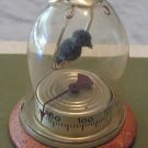 Vintage Bird in Cage Thermometer Glass Wood