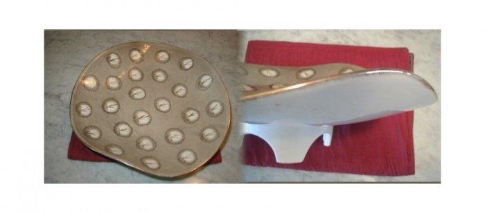 Estate Pottery Footed Serving Platter Designer Gallery