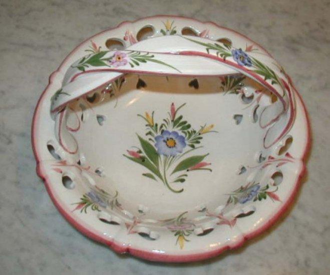 Porcelain Basket Handmade Bowl Baskets Floral Pottery