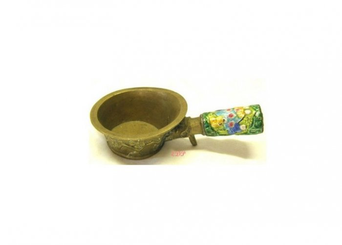 Champleve Enamel and Brass Chinese Asian Silk Coal Iron