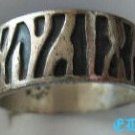 Native American Ring Sterling Eternity Band Thumb Wide