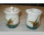 S.C.T. Pottery Sugar Bowl & Creamer SCT Artist Signed