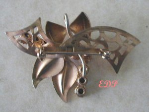 Vintage Topaz Clear Rhinestone Pin Brooch Pendant