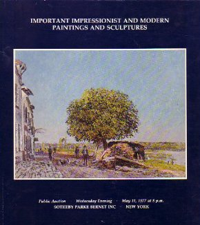 '77 Impressionist Mod Paintings Sotheby Auction Catalog