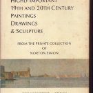 1971 Sotheby Auction HC Book Norton Simon Paintings