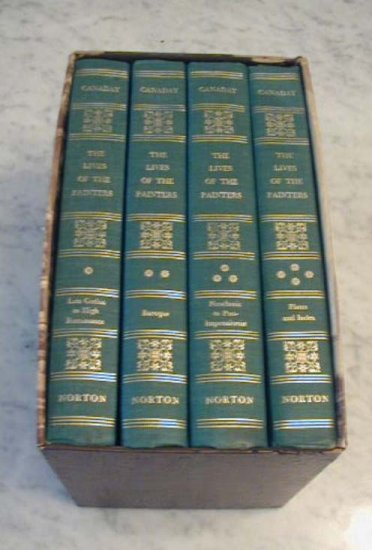 The Lives of the Painters John Canaday 4 Volume BOOKS