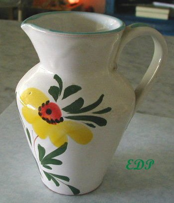 Italian Hand Painted Milk Jug Pitcher Italy