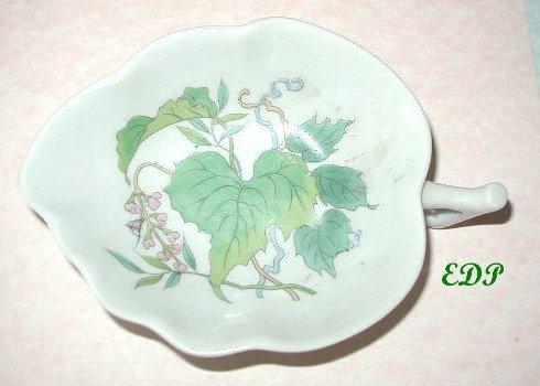 Leaf Shaped Bowl Decorative Bottom Oriental Asian
