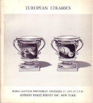 Dec. 17, 1975 EUROPEAN CERAMICS Sotheby Auction Catalog
