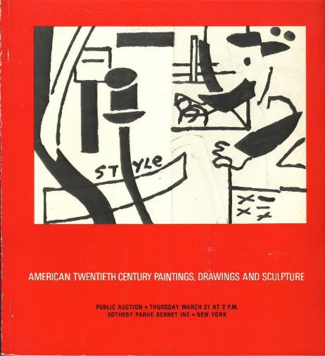 1974 Sotheby Auction Catalog Amer. Paintings Sculpture