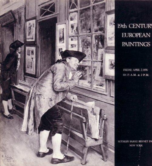 Apr.1976 Sotheby Auction Catalog 19C European Paintings