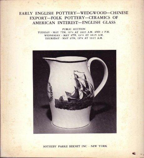 1974 Sotheby Auction Catalog English Pottery Wedgwood