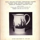 1974 Sotheby Auction Catalog English Pottery Wedgwood