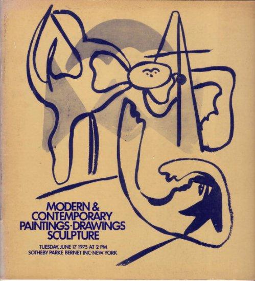 6.1975 Sotheby Auction Catalog M&C Paintings Sculpture