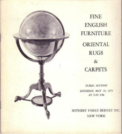 May 1975 Sotheby Auction Catalog English Furniture Rugs