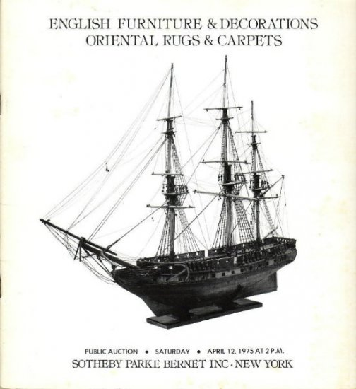 1974 Sotheby Auction Catalog English Furniture Rugs