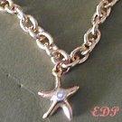 Star Fish Charm Bracelet Rhinestone