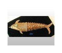 "Filigree Scent Box Articulated Fish Charm SILVER 3"""