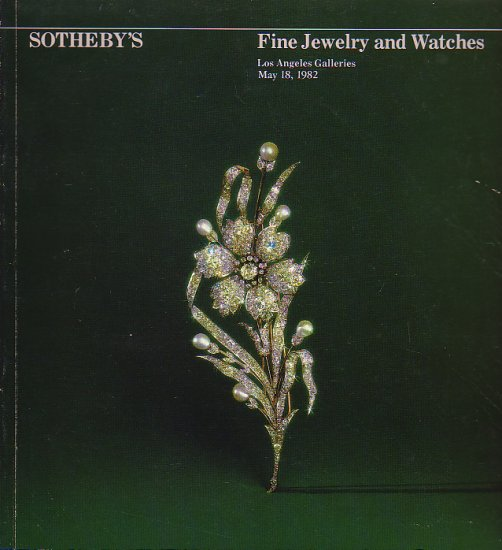 Fine Jewelry and Watches  May 1982 Sotheby Auction Catalog