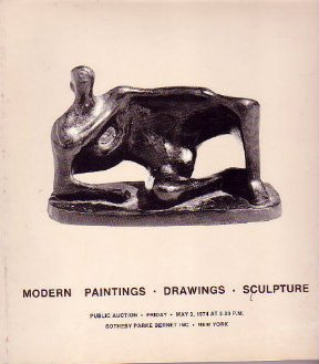 Modern Paintings Sculpture 1974 Sotheby Auction Catalog
