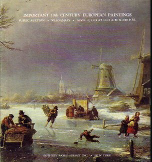 19C European Paintings 1974 Sotheby Auction Catalog