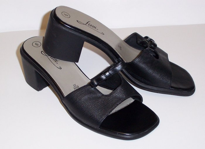 FIONI Black Sandals/Slides Shoes Womens 6 ~ Euro 37