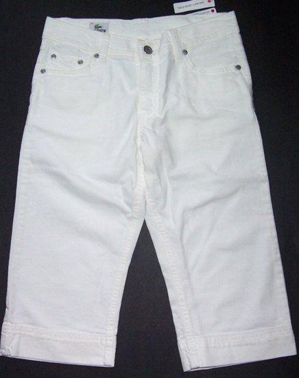 LACOSTE White Bermuda Shorts Junior Sz. 34/2