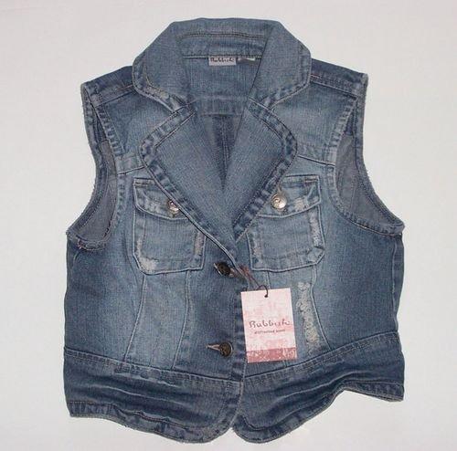 RUBBISH Denim Destroyed Jean Vest Junior Small~3-5