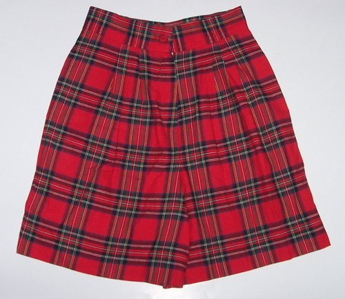 FUNTASIA TOO Red Plaid Walking Shorts/Skort Girls Sz. 8
