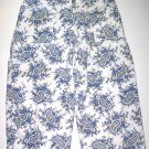 RUSS Cropped Pants Cream/Blue Womens Sz. 12
