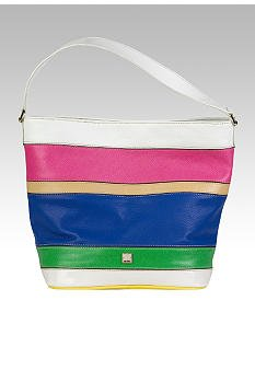LIZ CLAIBORNE New York Leather Vivien Bucket Purse/Bag