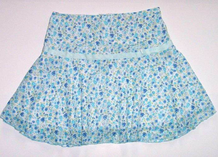 SPEECHLESS Blue Flower Short Summer Skirt Girls Lg.