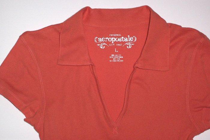 AEROPOSTALE Orange Top/Tee/Polo Jr. Girls Size M/L