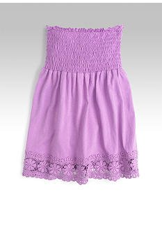 LOVE ROCKS Lilac Smocked Tube Top/Tunic Girls Small