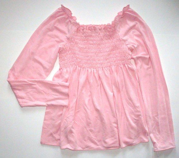 LIBY BLEU Pink Cotton Knit Babydoll Top Girls L~12/14