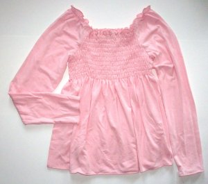 LIBY BLEU Pink Cotton Knit Babydoll Top Girls L~12/14