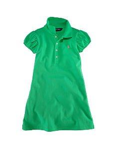 RALPH LAUREN Green Polo Dress - Girls 4
