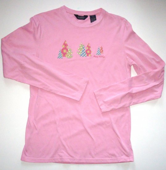 AUSTIN CLOTHING CO. Pink Christmas/Holiday Tee Jr. Small