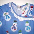COMPANY KIDS Blue Snowman Flannel Nightgown Toddler Girls Size 2/2T