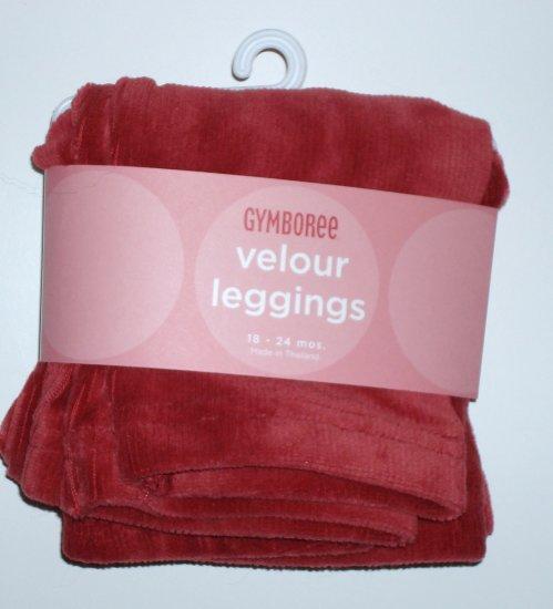 GYMBOREE Red Velour Leggings HOLIDAY 07 Girls18~24 Mos.