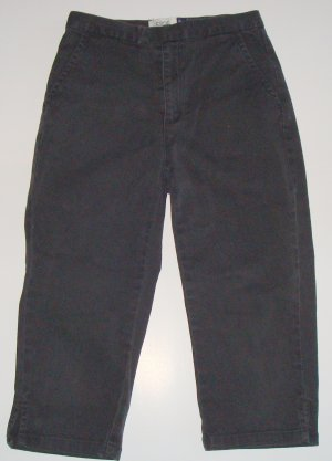 GAP KIDS Black Cotton/Spandex Stretch Capris Girls 8