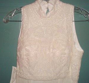 BELLA DIOSA Ivory Gown/Dress Wedding Prom Size 4