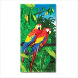Jungle Parrot Beach Towel