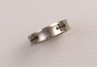 Silver Men's Stainless Steel Ring