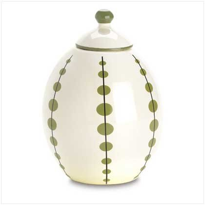 FERN-LEAF LIDDED URN