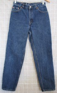 *Womens Levi Blank Red Tab Jeans 550 6 MIS S 28 x 28 USA